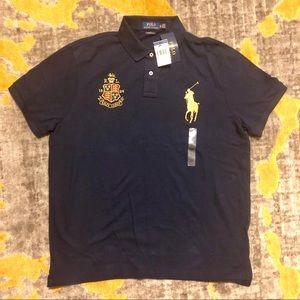 NWT Ralph Lauren Crest Polo in Navy